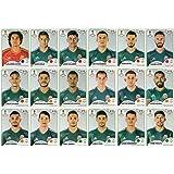 Panini World Cup 2018pegatinas–18México adhesivos–Equipo de juego–Los jugadores sólo # 454–# 471