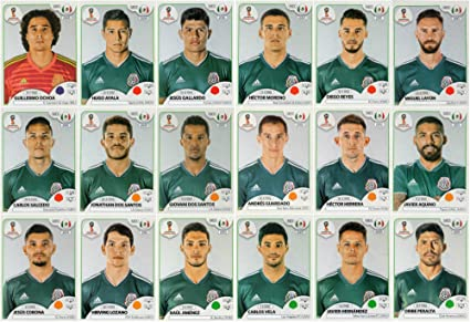 b8ae7354583 Amazon.com : PANINI WORLD CUP 2018 STICKERS - 18 MEXICO STICKERS ...