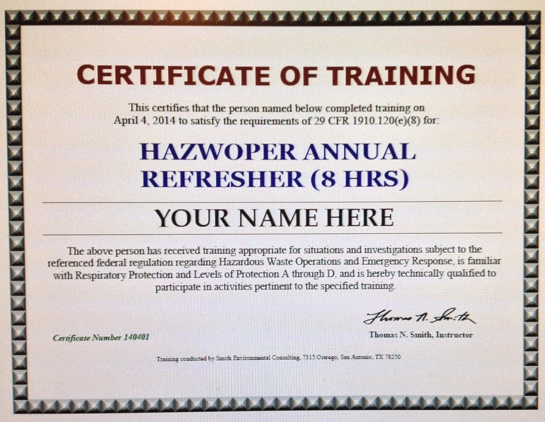 Amazon Hazwoper Refresher Training Self Paced Cd Format