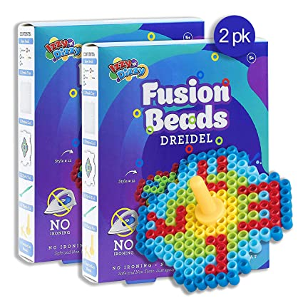 Amazon.com: Izzy n Dizzy Hanukkah Fusion Beads Dreidel ...
