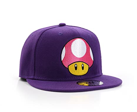 3f194142ce9 Image Unavailable. Image not available for. Colour  True Heads Super Mario  Toad Mushroom Purple Snapback Baseball Cap