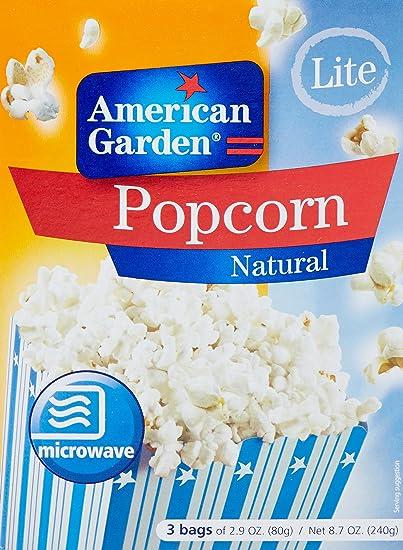 American Garden Microwave Popcorn, Light, 240g Microwave at amazon