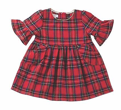 58562a976 Mud Pie Girls Red Dress Cotton Tartan Plaid Children Apparel (2 Years  Toddler)
