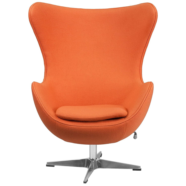 Amazon.com: Flash Furniture Orange Wool Fabric Egg Chair With Tilt Lock  Mechanism: Kitchen U0026 Dining