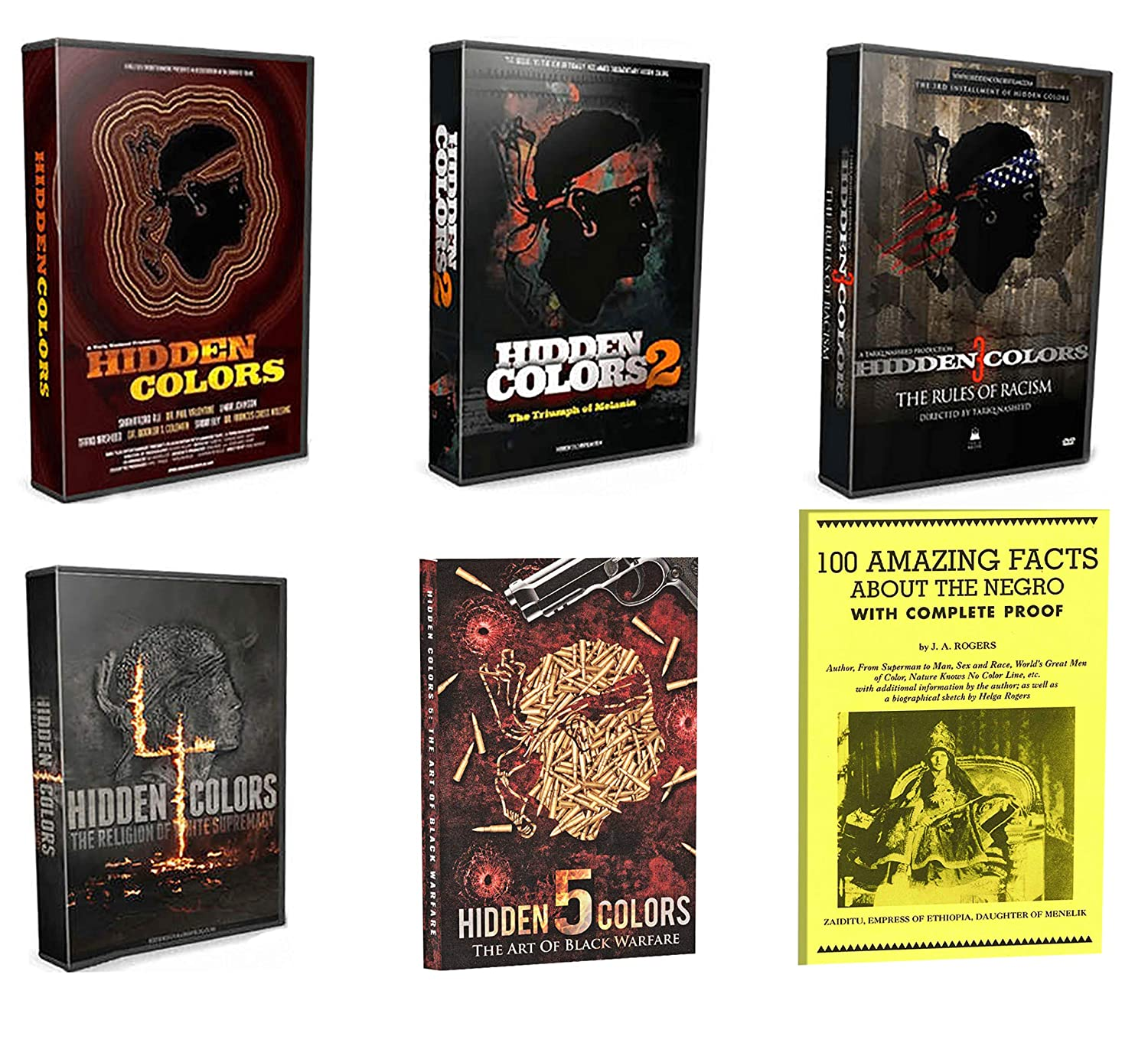 Amazon Com Tariq Nasheed Hidden Colors 1 5 Complete Documentary Dvd Series Volumes 1 2 3 4 5 Plus Bonus Book James Augustus Rogers Tariq Nasheed Ice T David Banner Michael Jai White