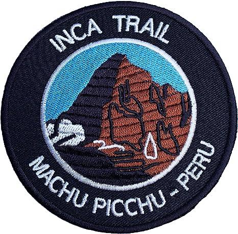 Inca Trail Cusco Machu Picchu Peru Iron on Patch//3.5 Inch Embroidered Trekking Badge