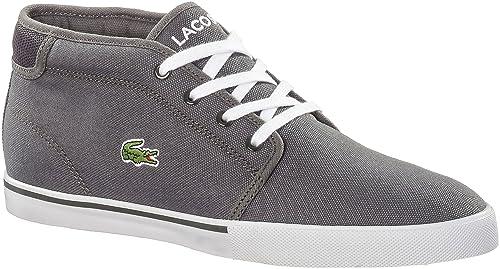 Lacoste hombres Dark gris Ampthill zapatillas, color gris, talla 39.5: Amazon.es: Zapatos y complementos