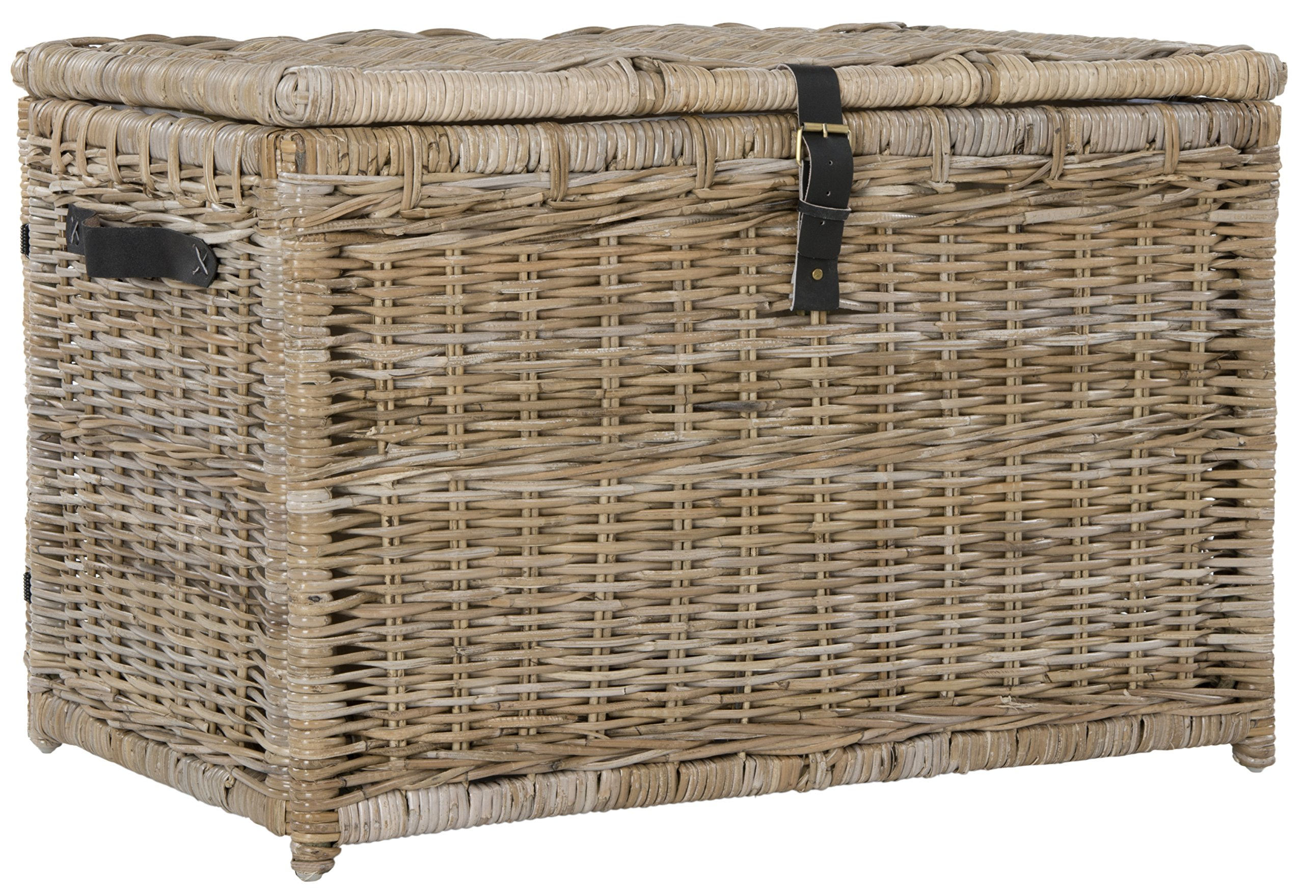 happimess Michael 35'' Wicker Storage Trunk, Natural by happimess