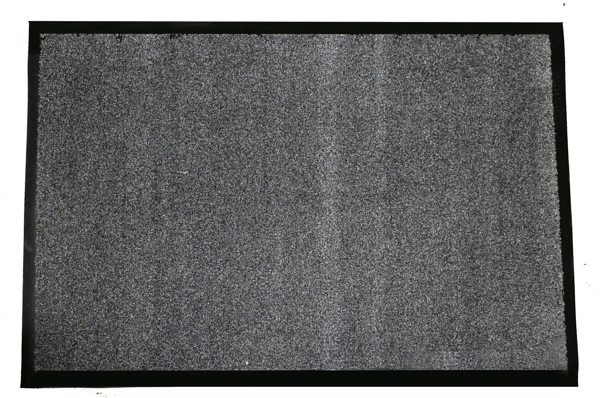 Durable Wipe-N-Walk Vinyl Backed Indoor Carpet Entrance Mat, 3' x 5', Charcoal