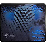 ENHANCE Large Gaming Mouse Pad XL - Extended Mouse Mat, Anti-Fray Stitching, Non-Slip Rubber Base, High Precision Cloth Fabric Tracking Professional eSports Mousepad - 3D Blue Hex Design
