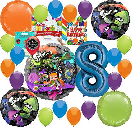 Amazon.com: Splatoon Party Supplies - Globo de decoración ...
