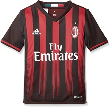 Libro Dios Bajar  Amazon.com : adidas AC Milan Kids Home Football Shirt 2016-17-9-10 Years :  Clothing