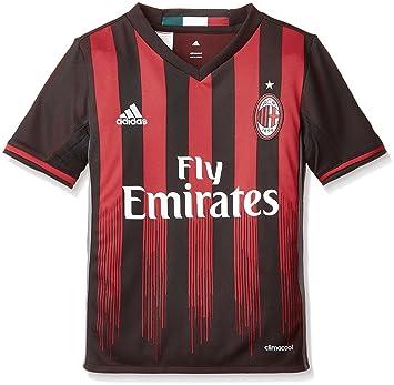 Adidas H JSY Y Camiseta 1ª Equipación AC Milán 2015/16, Niño: Amazon.es: Deportes y aire libre