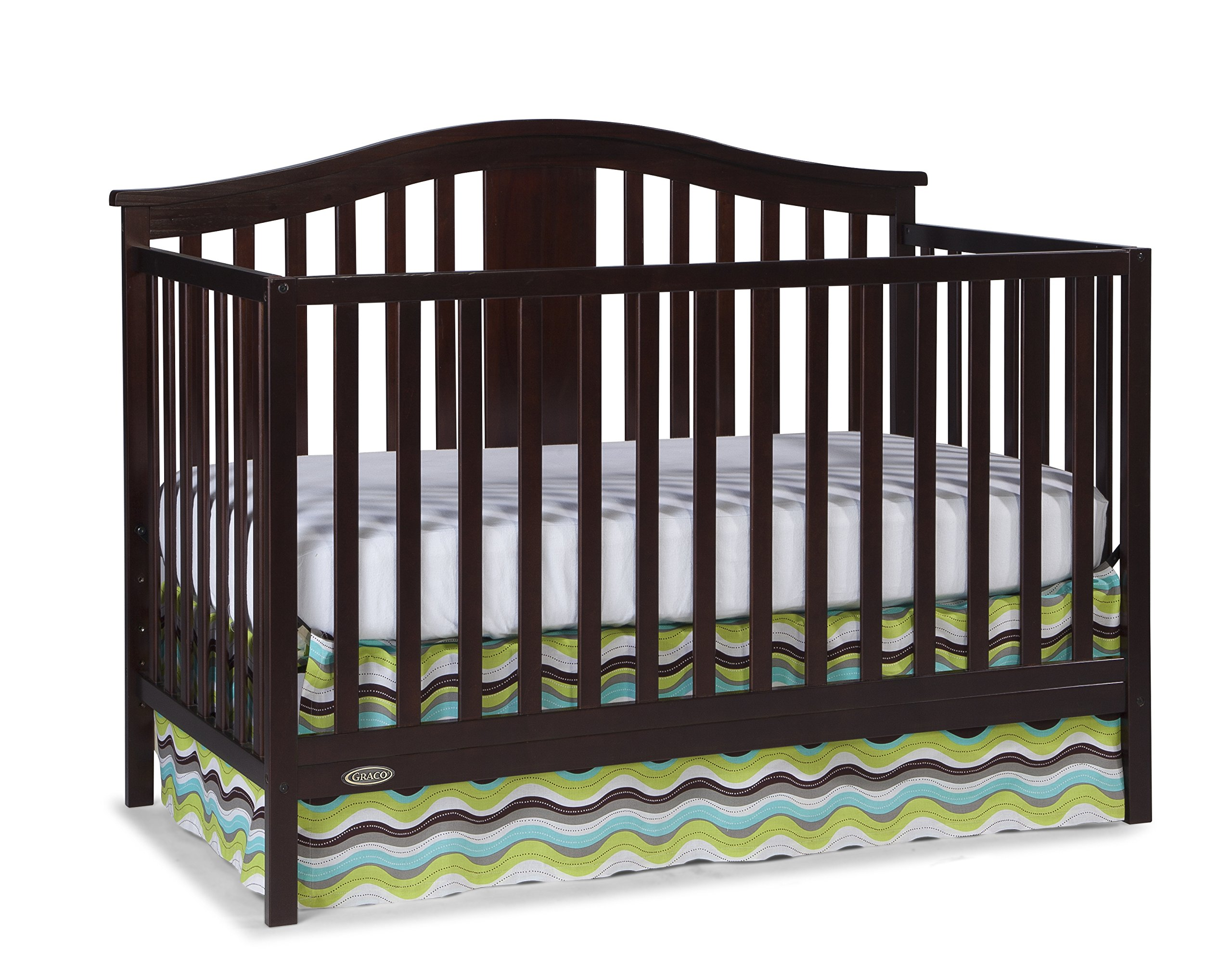 Graco Solano 4-in-1 Convertible Crib and Bonus Mattress, Espresso