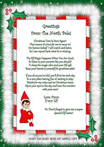 accessory for elf on the shelf arrival welcome letter christmas gift