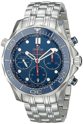 Omega de hombre 21230425003001 analógico automático para hombre plateado reloj: OMEGA: Amazon.es: Relojes