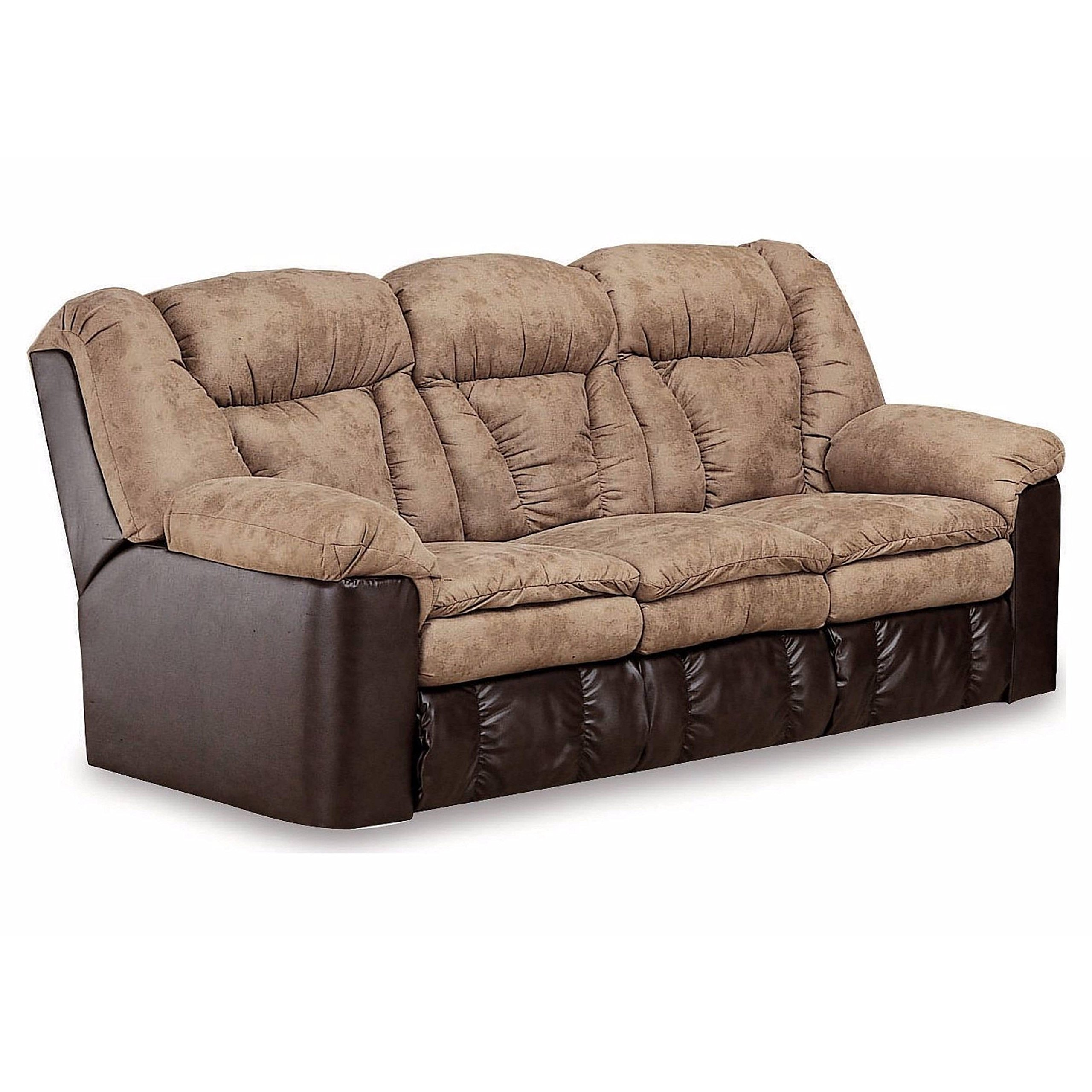 Lane Furniture Montgomery Double Reclining Sofa with Fold-down Table and 2-motor Massage