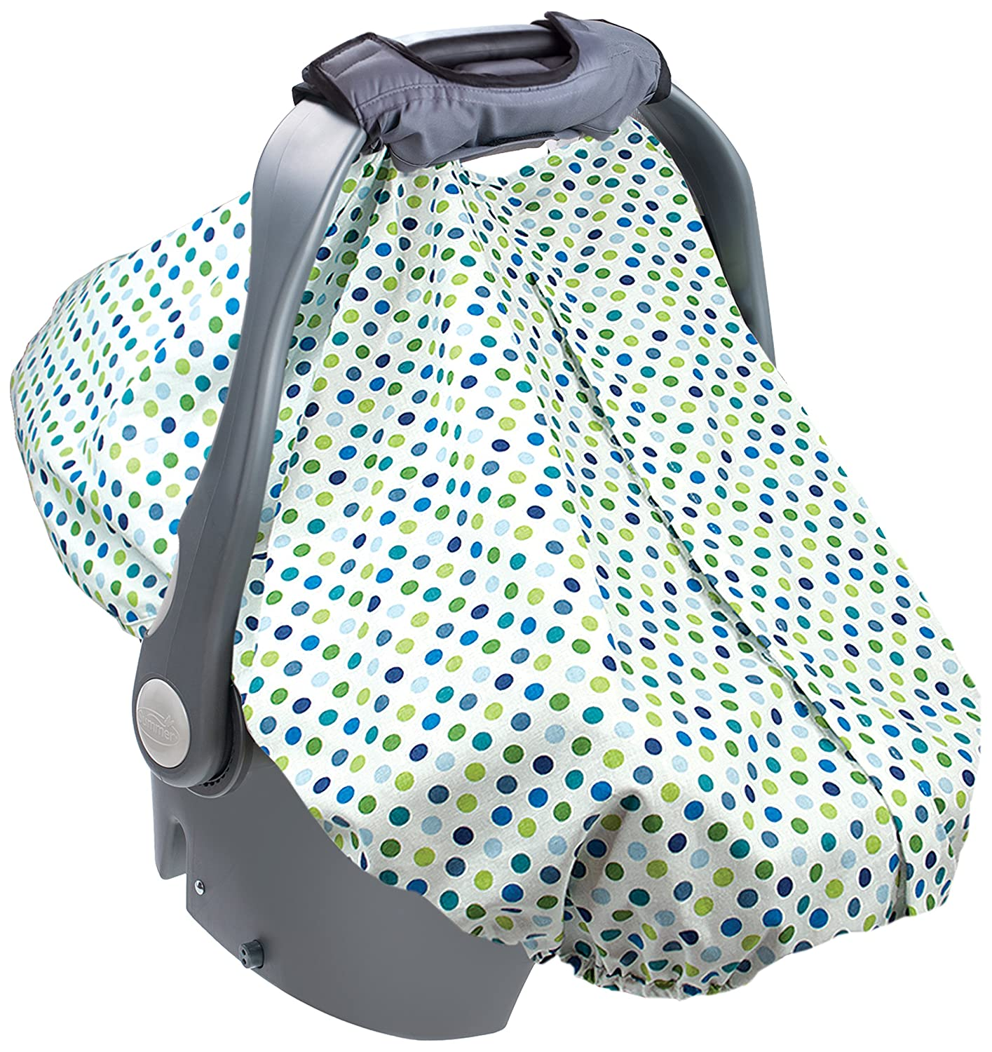Amazon.com  Summer Infant 2-in-1 Carry and Cover Infant Car Seat Cover White Dots  Baby  sc 1 st  Amazon.com & Amazon.com : Summer Infant 2-in-1 Carry and Cover Infant Car Seat ...
