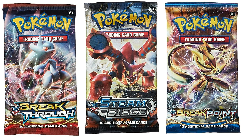 amazon com pokemon cards 3 booster packs random packs toys
