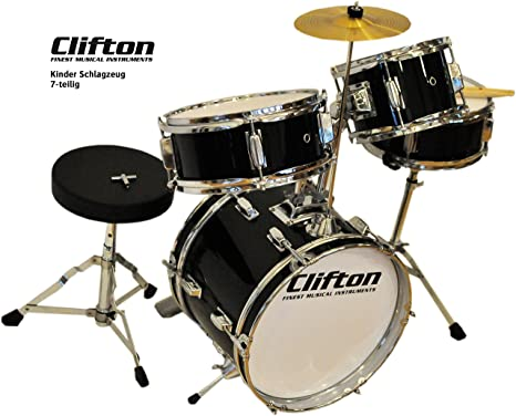 Clifton junior bambini percussioni drum set incluso sgabello e