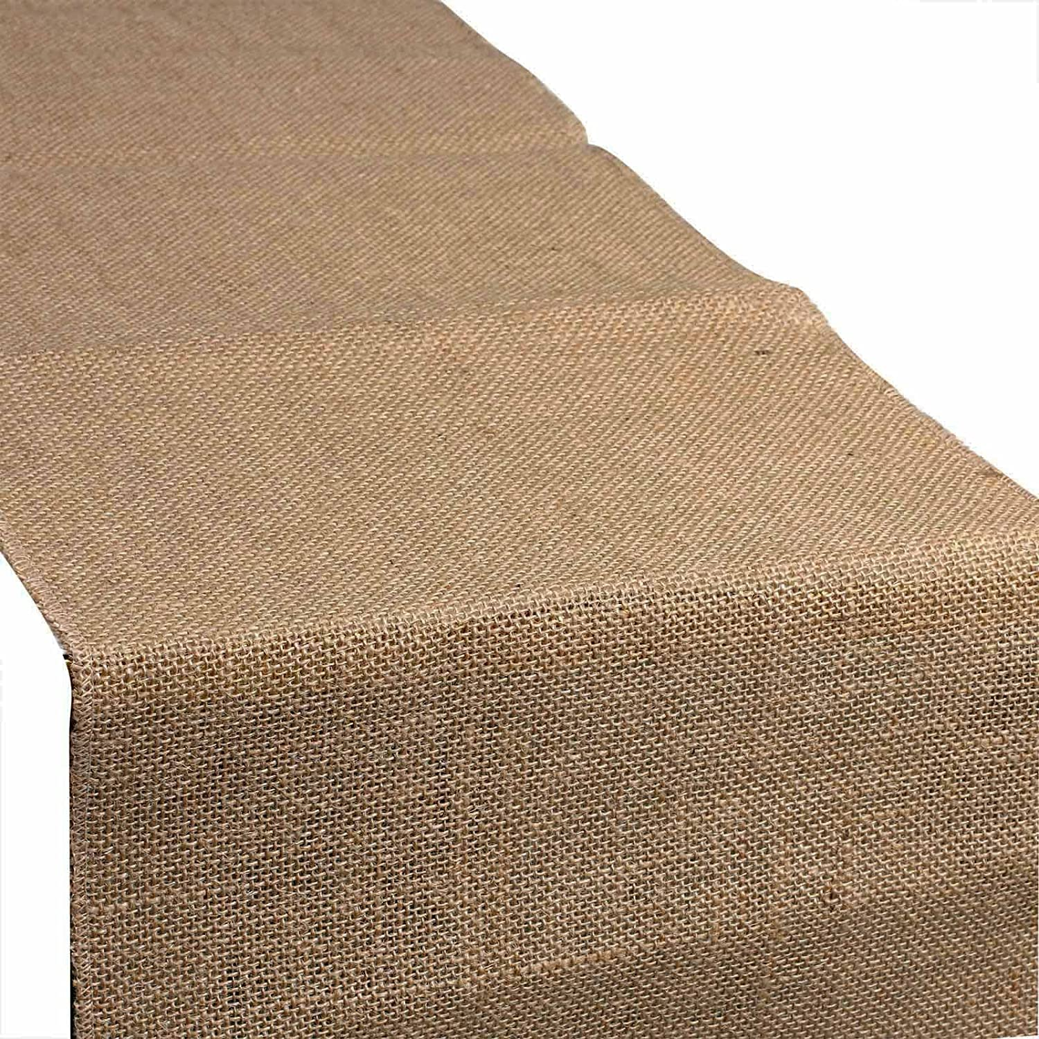 vLoveLife 12x108 Natural Burlap Table Runner Hessian Jute Rustic Vintage Cloth Wedding Party Baby Shower Events Table Decor