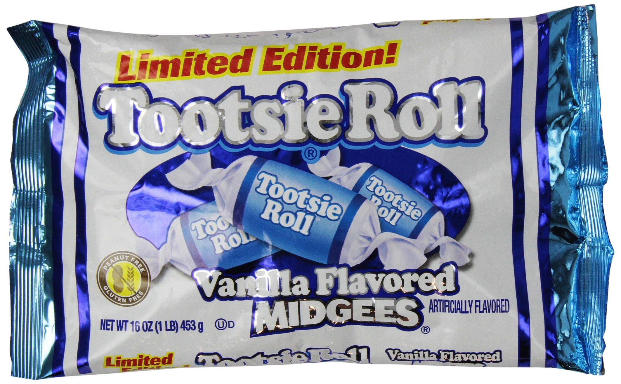 Vanilla Tootsie Roll Midgees Limited Edition 16 Oz (2 Pack)