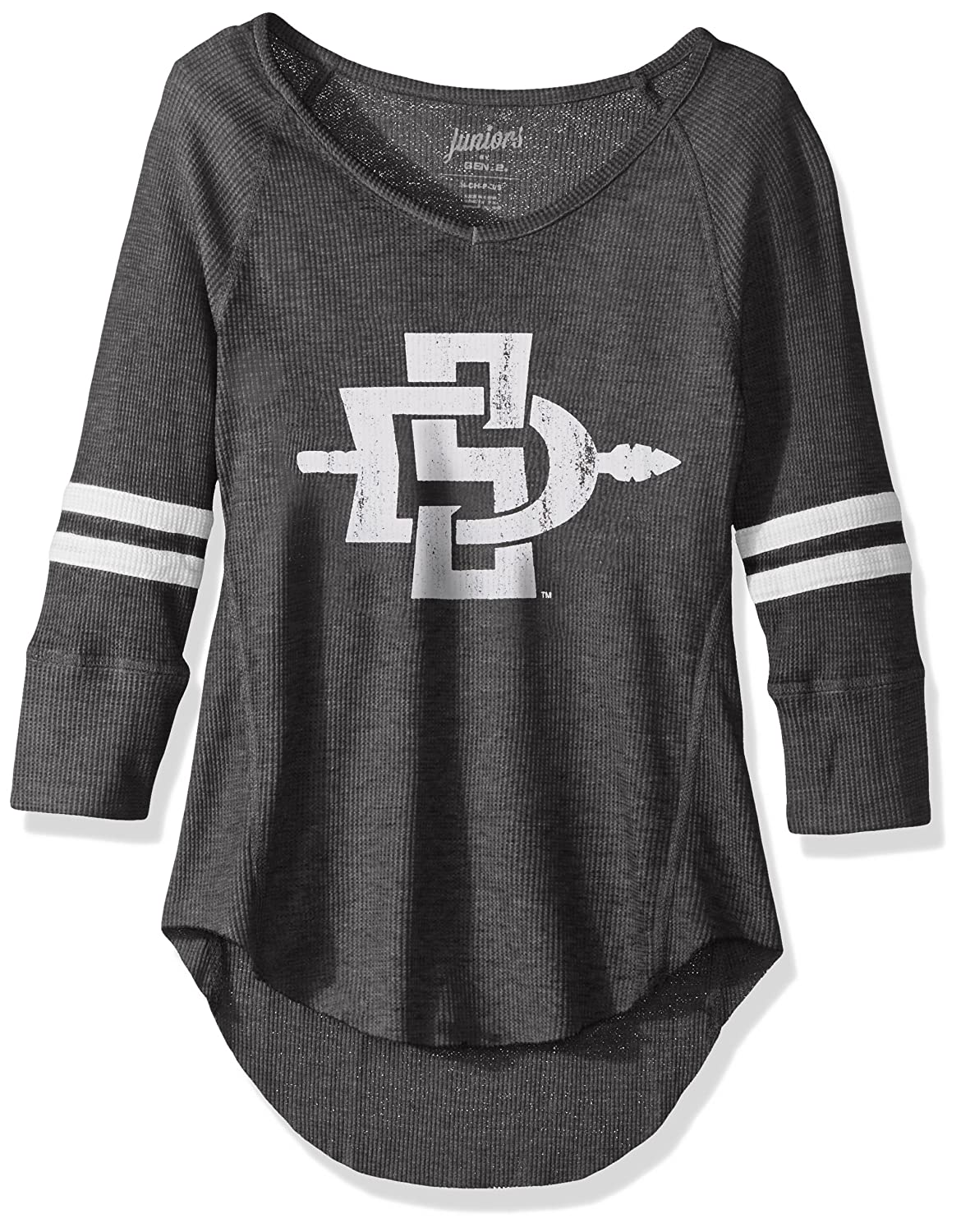 11-13 Team Color NCAA San Diego State Aztecs Juniors Outerstuff Relaxed 3//4 Raglan Thermal Top Large
