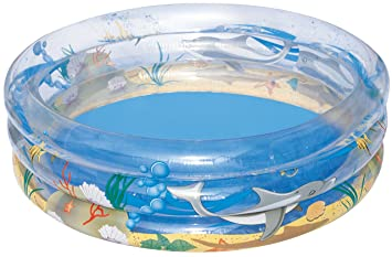 Piscina Hinchable Infantil Bestway Transparent Sea Life ...