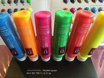 Amazon.com : Pintura Acrilica Organic Nails Set NEON CON 6pc Para One Stroke/mano Alzada : Beauty