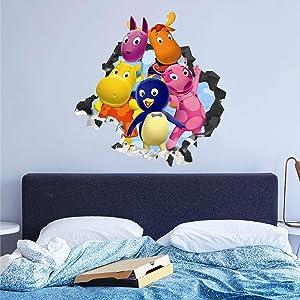 Backyardigans Group Wall Decals Custom Sticker Vinyl Peel and Stick Art Nursery Baby Room Decor JO115 (Medium 30 W x 28 H Inches)