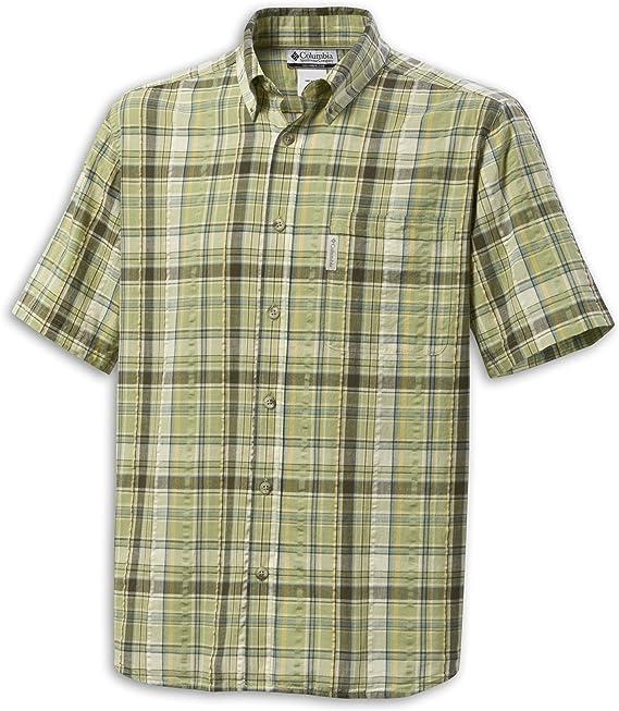 Columbia Blue Mountain Cuadros Camisa Verde Oliva, Hombre, Color Verde, tamaño XL: Amazon.es: Deportes y aire libre
