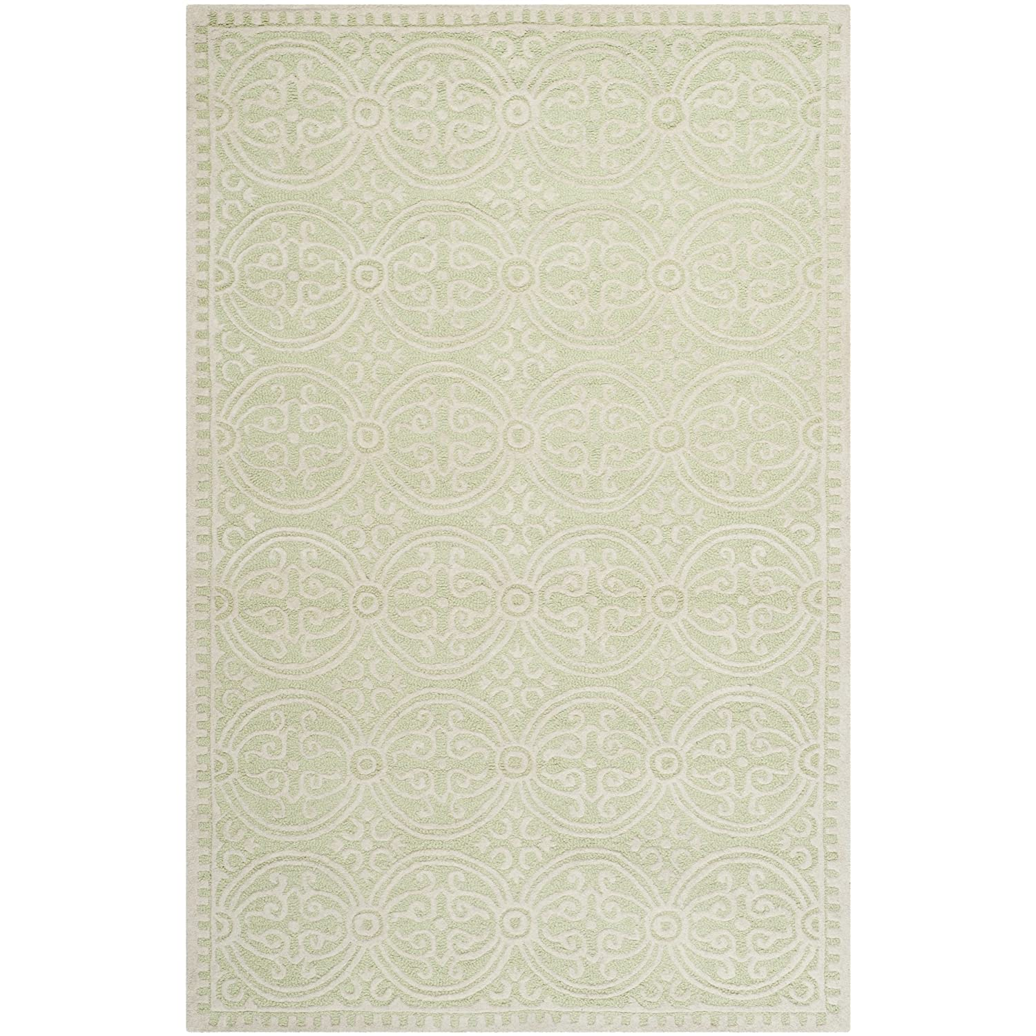 Superb Amazon.com: Safavieh Cambridge Collection CAM123B Handcrafted Moroccan  Geometric Light Green And Ivory Premium Wool Area Rug (4u0027 X 6u0027): Kitchen U0026  Dining