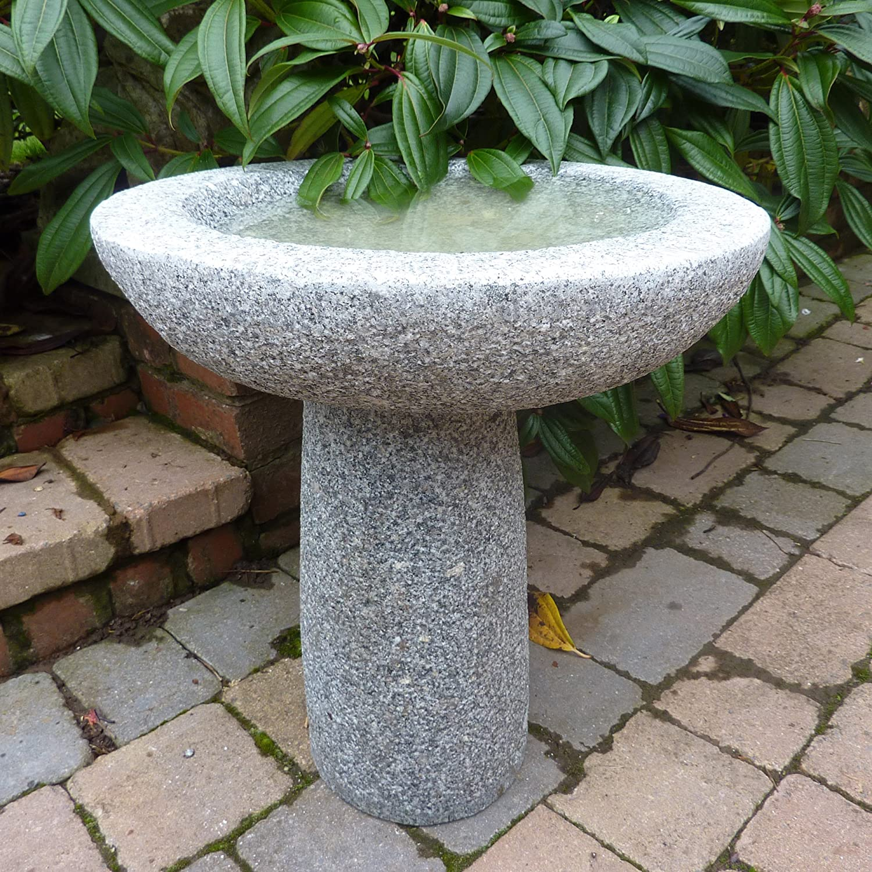 Vogeltränke für Den Garten, Pure Natural Grau Stein Granit ...