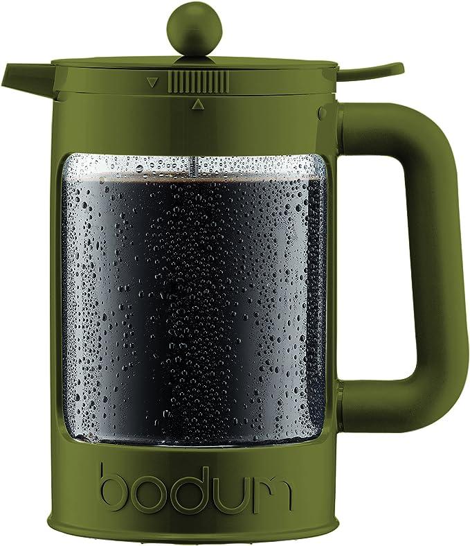 Bodum Bean Set Cafetera de Hielo Tazas, Verde Oscuro, 12 Cups: Amazon.es: Hogar
