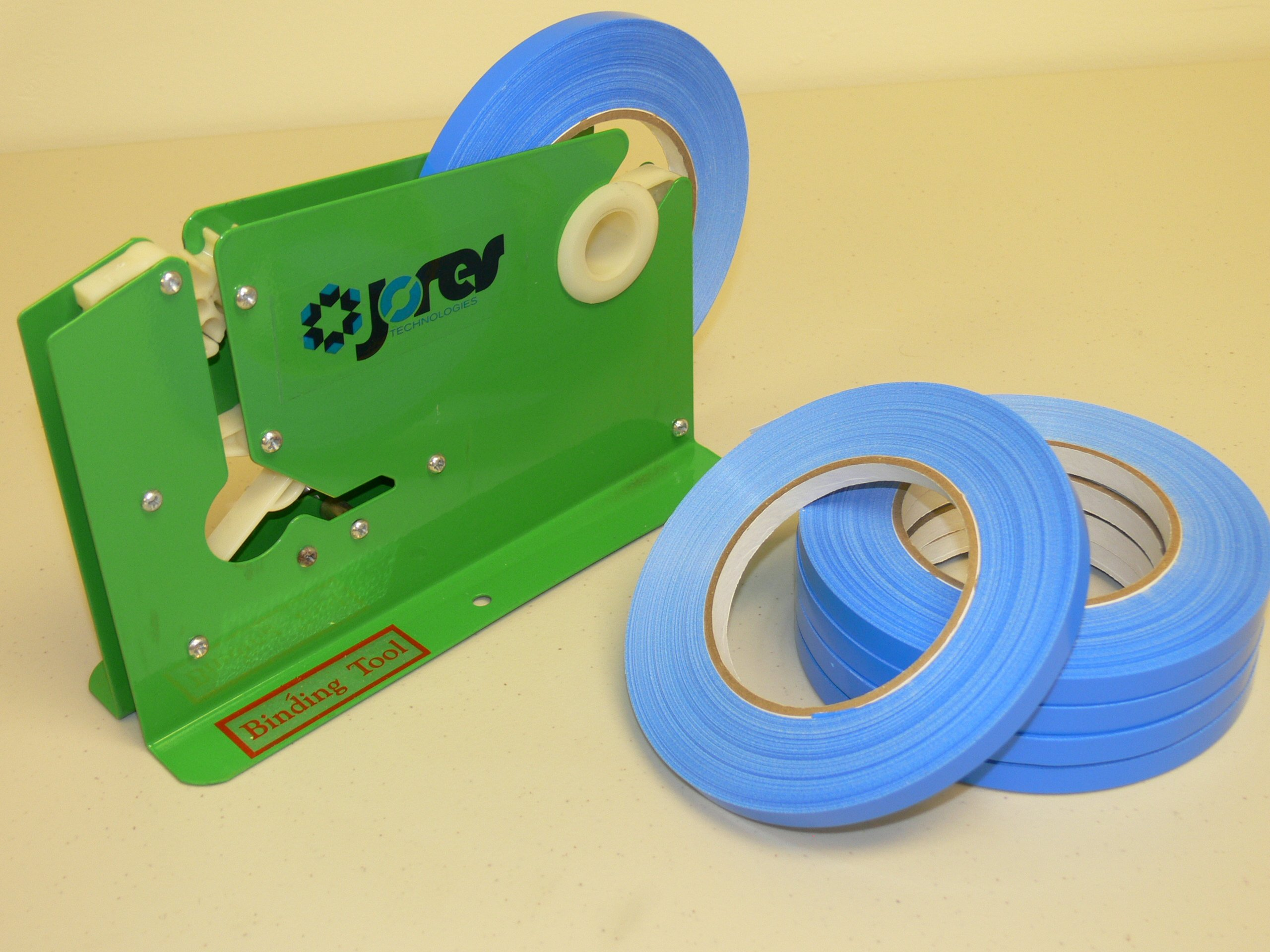 Manual Neck Bag Closer Powder Coated Metal with 5 Tape Rolls 3/8''