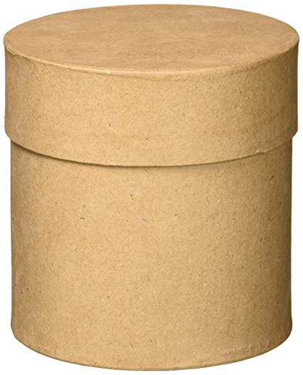 Darice DIY Crafts Paper Mache Box Round 4 x 4 x 2 in Bulk Buy 6-Pack 2833-33