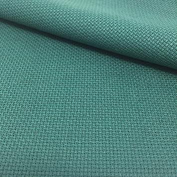 Tela para Punto de Cruz | 75cm x 50cm | 5,5 puntos/cm - 14 cuentas | 100% algodón | Elige color | de Delicatela (Verde): Amazon.es: Hogar