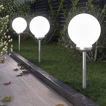 Lampe Led Boule Solaire Blanc Pour Jardin 15 Cm Impermeable Avec