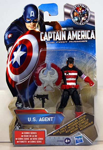 Captain America in Black from Collectors Pack Marvel Super Hero Squad US AGENT