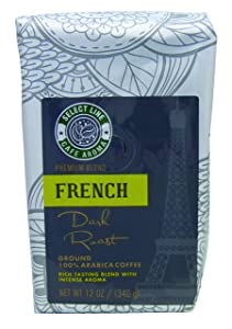 Bold French Roasted Ground Coffee - 12 oz Bag, from Aroma Select, Premium, Gourmet Ground Coffee