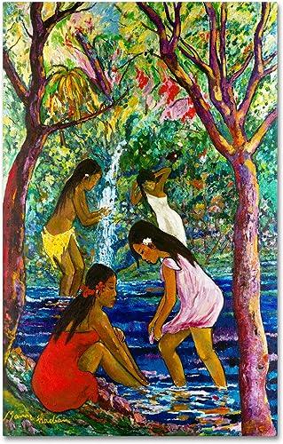 Four Girls Canvas Wall Art