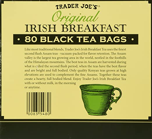 Trader Joe's Original Irish Breakfast Tea (80 Black Tea Bags Per Box