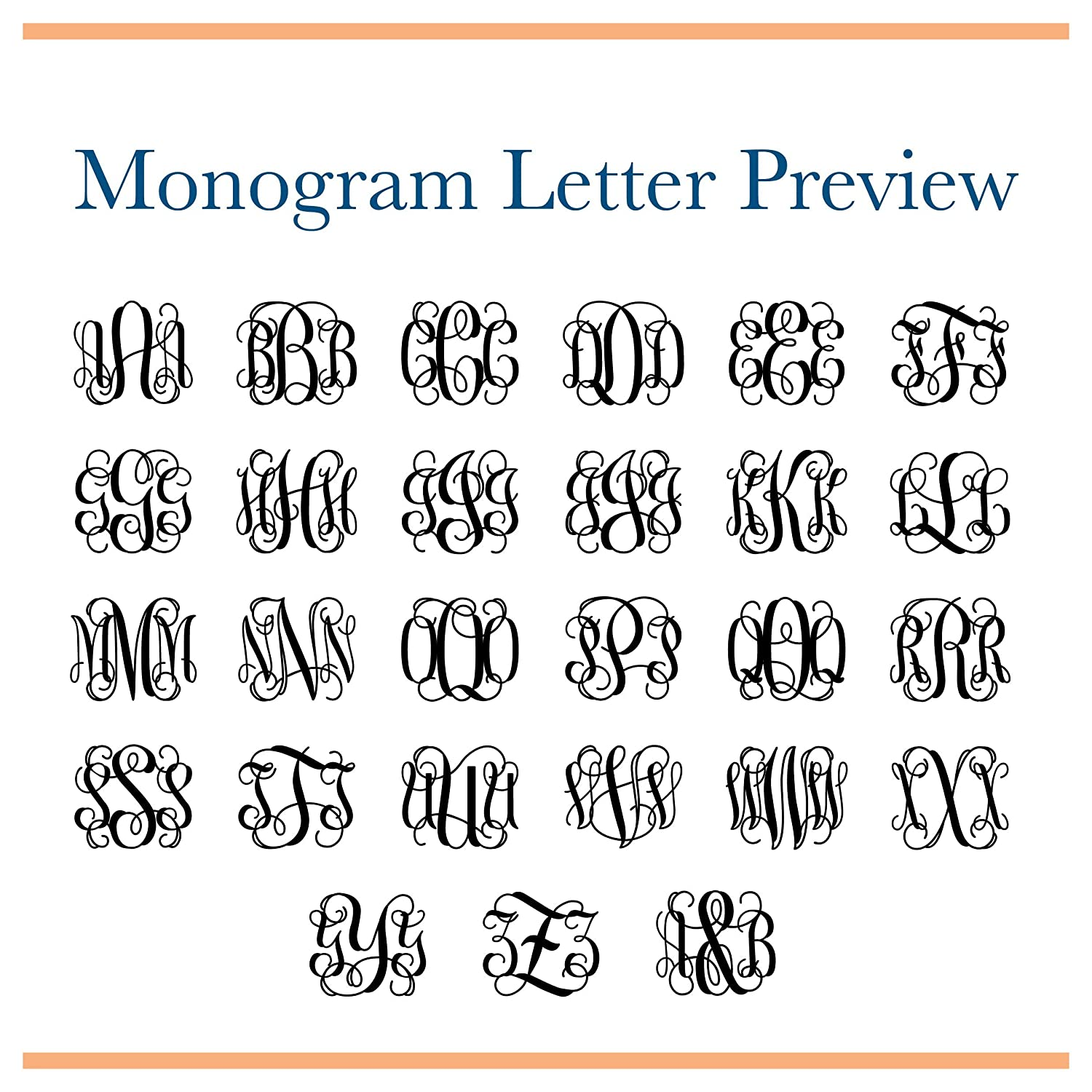 Amazon.com: Monogram Stickers, Gold Foiled Monogrammed Stickers ...