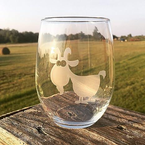 Amazon.com: Copa de vino con diseño de cabra de Quirky ...