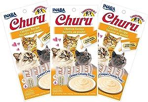 INABA Churu Chicken Recipe Lickable Purée Natural Cat Treats 12 Tubes