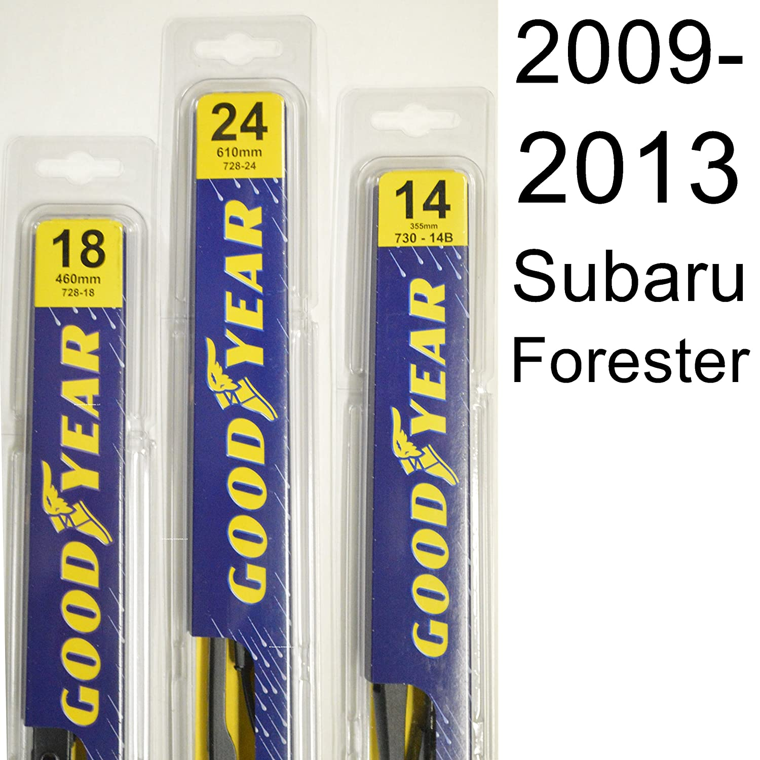 subaru forester 2009 2013 wiper blade kit set