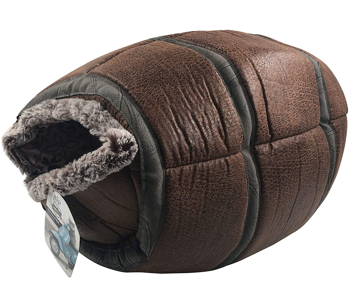 Brown AFP Cat Cave Indoor Pet Kitten Dog Plush Igloo Bed House Cushion Eco-Friendly Durable Non-Slip Warm, Brown