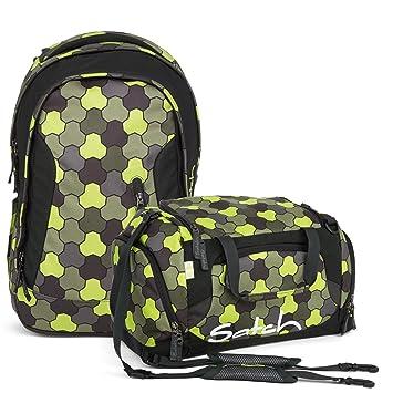 1e6ebc8547b6b Satch Sleek Jungle Flow 2er Set Schulrucksack + Sporttasche  Amazon ...