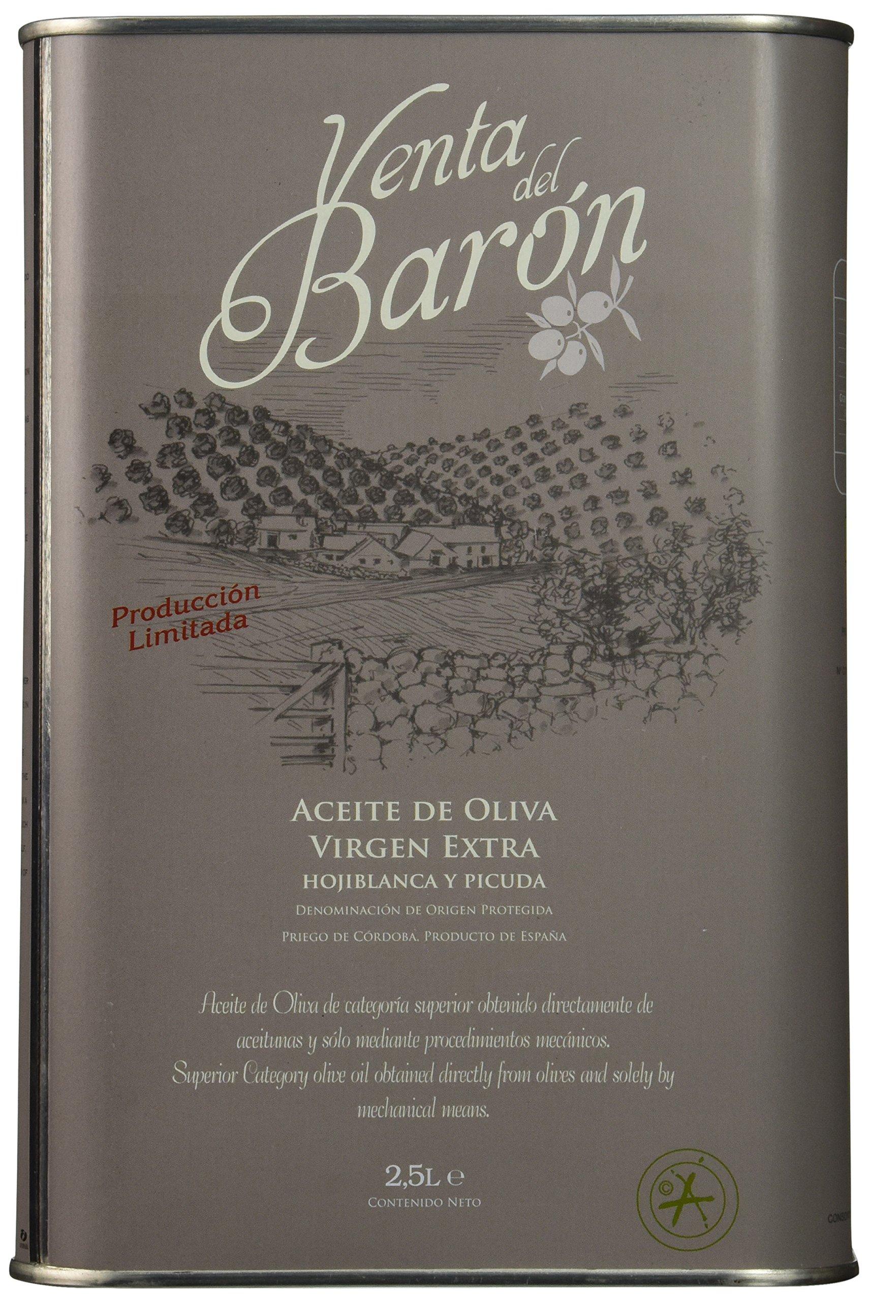 Venta del Baron Extra Virgin Olive Oil - 1 tin - 2.5 Liters