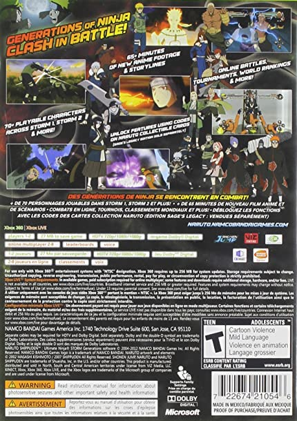 Amazon.com: Naruto Shippuden Ultimate Storm Generations ...